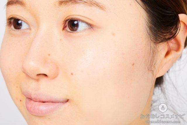 『トワニー ビューティリフレッシャー』で洗顔をした後の顔