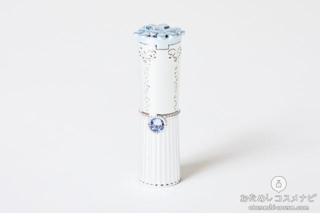 ブルーサファイヤが飾られた、上品なリップスティックのケース