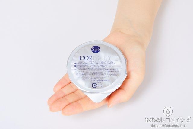 手のひらにのった『SPA CO2ゼリー』のゼリー
