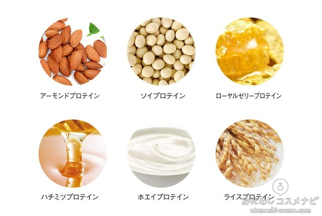 『ヘアザプロテイン』に含まれる6種類の成分